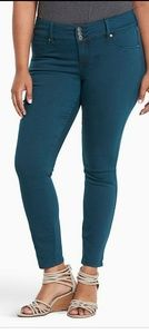 Torrid High Waisted Teal Jegging Jeans 14